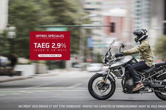 Offre TAEG 2.9% Triumph Tiger 800